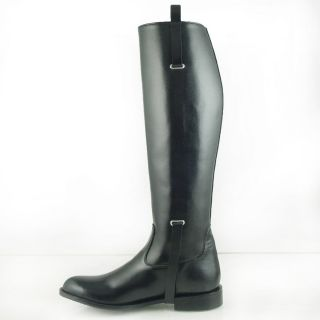DG MEN BUCKLE DRESS TALL HORSE RIDING BOOTS BLACK Slim Sizes 7 13