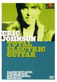 Total Electric Guitar Eric Johnson Hot Licks Lick Library DVD HOT43
