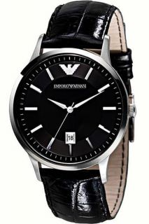 Emporio Armani Classic Slim Leather Strap Mens Watch AR2411