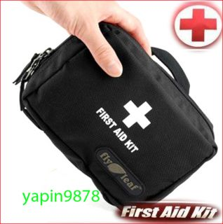 Camping Home Work Medical Emergency Survival First Aid Kit Bag Black