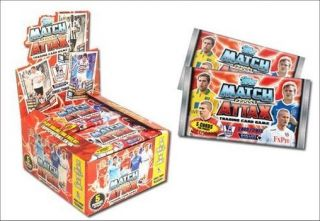 2013 Topps ENGLISH PREMIER LEAGUE Match Attax Soccer Cards Box. 50