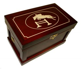 Mini Tack Trunk Jewelry Box Cherry Jumper stocking stuffer Horse
