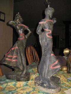 Vintage Pair Reglor Lamp Rare Dancer Figurine