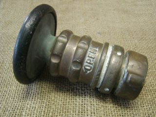 Vintage Brass Fire Hose Nozzle Antique Old Elkhart