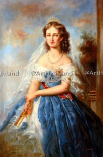 Vintage Royalty Portrait Oil Painting Paintings Canvas Empress Eugenie