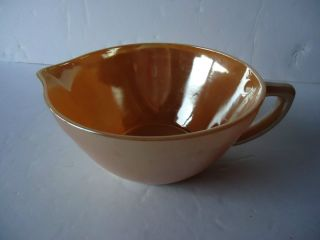 Vintage Retro Fire King Batter Mixing Bowl Peach Luster   In Great