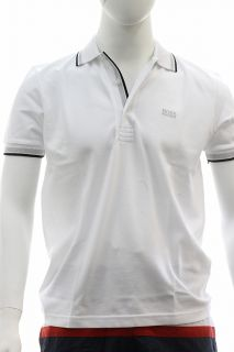 Hugo Boss Mens Modern Fit Paddy Polo White Shirt 50198254