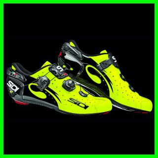 2013 Sidi Wire Road Cycling Shoes Yellow Fluor Sizes EU39 47