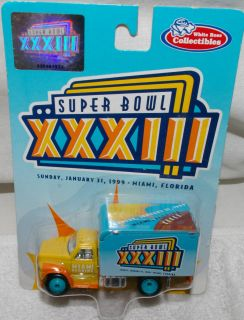 Denver Broncos Ford F800 Delivery Van Truck Super Bowl XXXIII Metal