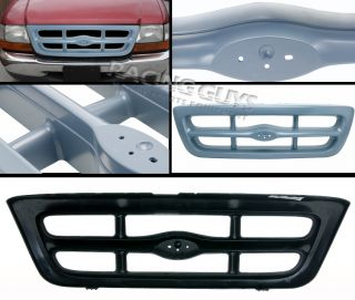 1998 2000 Ford Ranger Splash Pickup Gray Plastic Front Upper Grille