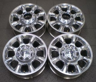 Full set of four (4) wheels from a used 2005 2012 Ford F250/F350