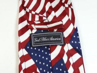 US USA American Flag Patriotic Silk Neck Tie Mens Necktie