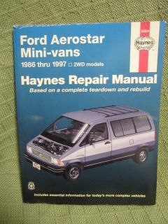 1986 1997 Ford Aerostar Haynes Manual