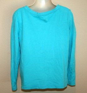 Childrens Girls Gap Kids Turquoise Funky Monkey Long Sleeve Tee Shirt