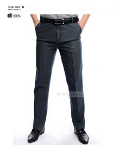 P21016 Mens Work Formal Straight Pants Business Trousers Large Size