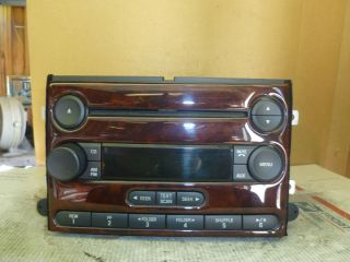 07 09 Ford Freestyle Five Hundred Radio Cd  6E5T 18C869 BK Wood