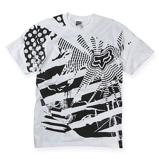 Fox Racing Explosion T Shirt Tee White Black XLarge XLG
