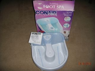 Conair Body Benefits Bubbling Foot Spa Massager Model FB10S