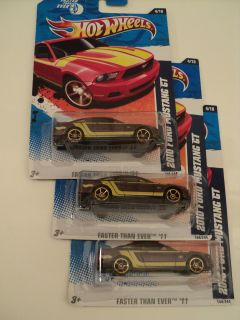 Hot Wheels 2010 FORD MUSTANG GT 3 INTERIOR VARIATIONS FIRST CLASS MAIL