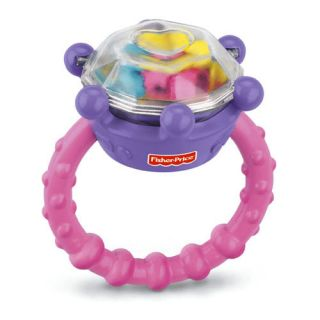 Fisher Price Brilliant Basics Diamond Ring Rattle Baby Girls Fun Toys