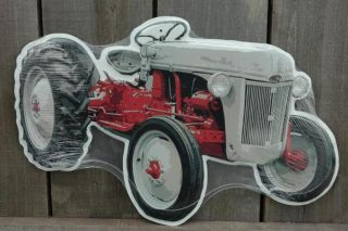 now free metal gray die cut tractor tin sign signs