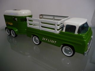 Nylint Ford Econoline Pickup Truck Horse Trailer 1960s