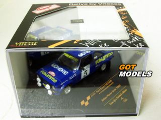 Ford Escort MK2 RS1800 1 43 Scale Model Car by Vitesse Monte Carlo