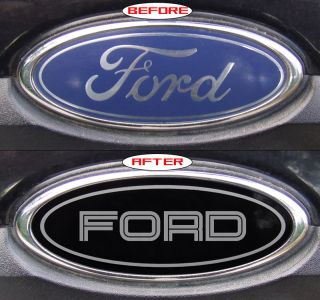 THIN LINE FORD EXPLORER SPORT TRAC BLACK EMBLEM OVERLAY STICKERS