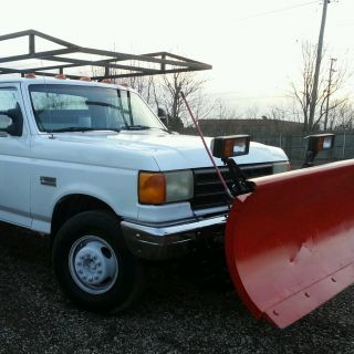 1990 Ford F Super Duty Service Truck Snow Plow