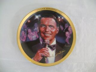 Frank Sinatra The Champ Limited Edition Franklin Mint Collectors Plate