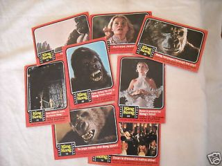 1976 Topps King Kong Trading Cards Set of 8