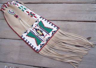 MOUNTAIN MAN BLACK POWDER BEADED PIPE BAG RENDEZVOUS LONG HUNTER