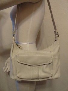 fossil small cream leather hobo handbag purse purses