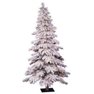 Vickerman Flocked Spruce Alpine 60 Artificial Christmas Tree with
