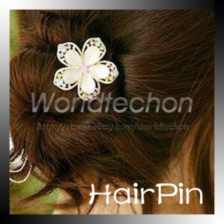 Charm Rhinestone Flower Hair Pins Wedding Hairpin