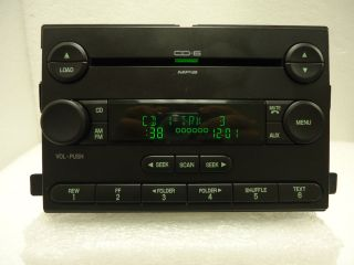 Ford Focus F 250 F 350 Premium Radio Stereo 6 Disc Changer  CD