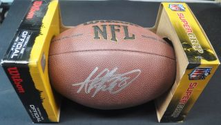 Signed Autographed Football Ball Authentic Memorabilia Holo