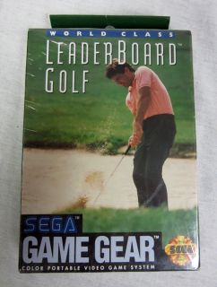 BRAND NEW Sealed in Box LeaderBoard Golf Sega Game Gear Game