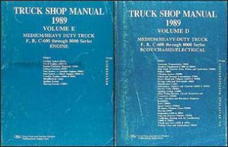 1989 Ford Truck Repair Shop Manual Set F600 F700 F800 FT800 FT900