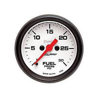 Autometer Phantom Electrical Fuel Pressure Gauge 2 1 16 Dia White