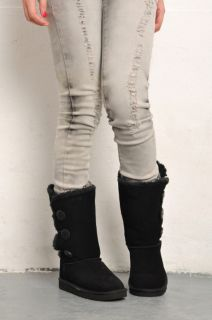 Style Women Black Winter Snow Boots Shoes Eur Size #35~#40 S7305