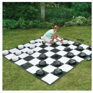 Classic GIANT Checker Set w Mat Fun Outdoor Yard Game Sport s Fun
