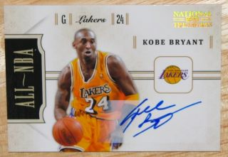 2010 11 National Treasures KOBE BRYANT All NBA autograph auto SP /99