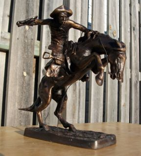Frederic Remington The Broncho Buster Franklin Mint Bronze Bronco