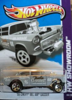 2013 Hot Wheels 1955 CHEVY BEL AIR GASSER NEW B CASE USA CARD