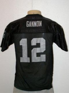 REEBOK RICH GANNON #12 OAKLAND RAIDERS NFL TEAM JERSEY YOUTH L