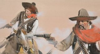 Oil Painting A Quick Draw by Renowned Western Artist Gerald McCann