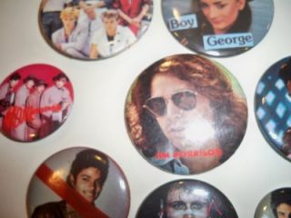 plus Rick SpringfieldBoy Georgethe Michael Jackson pin has a slash