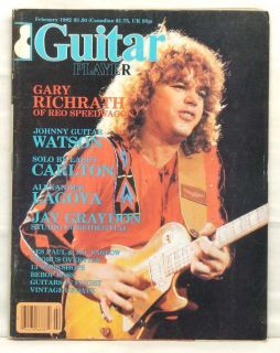 Guitar Player Magazine Gary Richrath REO Speedwagon 82