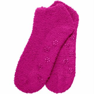 Fuzzy Soft Non Skid Ankle Slipper Socks Lots of Colors Size 9 11